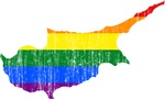 Cyprus Rainbow Pride Flag And Map