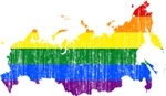 Russia Rainbow Pride Flag And Map