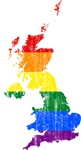 United Kingdom Rainbow Pride Flag And Map
