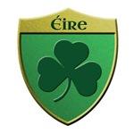 Ireland Shamrock Metallic Shield