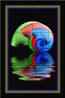 RGB SHELL TILE MURAL