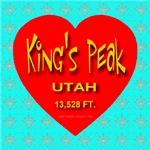 King's Peak Utah Snowflake Heart