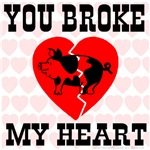 You Broke My Heart Pig Classic Red