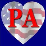 Love PA Flag Heart 