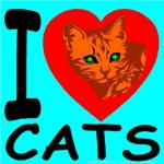 I Love Cats Skyblue