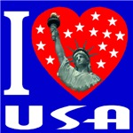 I Love USA Statue of Liberty Heart 2006b