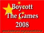 Boycott the Games 2008 First Edition