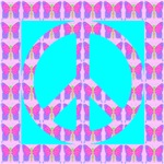 Peace Symbol Butterfly Mosaic