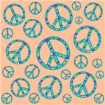 Peace Symbols Mosaic Flesh
