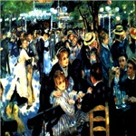 Dance at Le Moulin de la Galette Renoir 1876