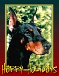 Happy Holidays Dobermann