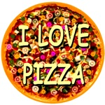 I Love Pizza -- Perfect Round Pie