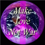 Planet Earth Peace Symbol Make Love Not War