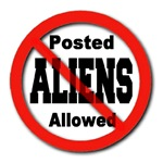 Posted No Aliens Allowed