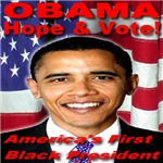 Obama Hope & Vote America's First Black President