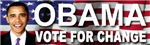 Obama Vote For Change Bumper New