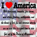 I Love America, God & Pledge of Alligeance
