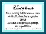 Certified Genius