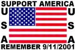 USA Flag Remember 9-11-2001