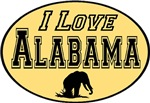 I Love Alabama in Precious Gold