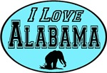I Love Alabama Baby Blue for Him