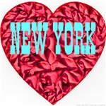 New York Skyblue Heart