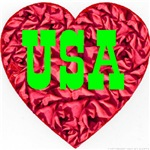 USA Christmas Heart