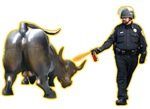 Occupy Wall Street, Peppers vs Wall Street bull