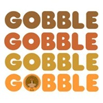 Gobble at thanksgiving