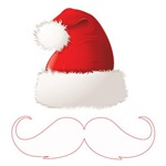 Funny Santa Hat Mustache