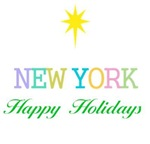 New York The Big Apple Obama Happy Holidays Noel