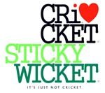 Cricket Sticky Wicket Iconic RedDot It's Just Not