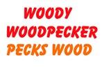 Woody Woodpecker Pecks Wood