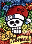 Feliz Navidad Day of the Dead Sugar Skull