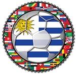 Uruguay Flag World Cup Soccer Football Futbol with