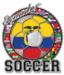 Ecuador Flag World Cup Soccer Ball With World Flag