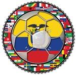 Ecuador Flag World Cup Soccer Football Futbol Ball