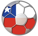 Chile Flag World Cup Futbol Football Soccer Ball
