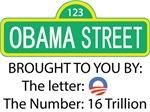 Obama Street - Letter o - Number 16 trillion