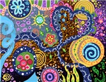 Psychedelic Abstract Celebration