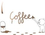 Cute Drip Guy Painting Coffee