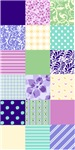 Girly Pattern Squares