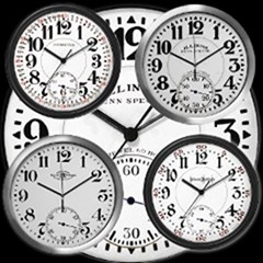 Railroad Pocket Watch Dial Clocks
