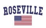 Roseville Ca US Flag