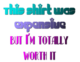 THIS SHIRT WAS EXPENSIVE