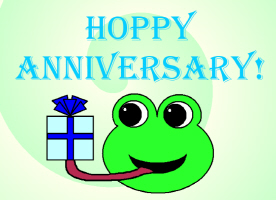 HAPPY/HOPPY ANNIVERSARY