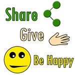 Share, Give, Be Happy