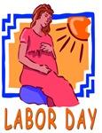 Labor Day Funny Maternity T-shirt