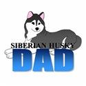 Black Siberian Husky Dad