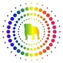 Bulldog Rainbow Studs